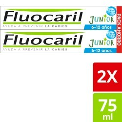 Fluocaril Junior 6-12 años Sabor Chicle Pack 2x75ml