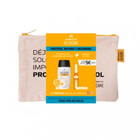 Heliocare Pack 360 Water Gel Spf50+ 50ml + Radiance C Oil-free 10 Amp. + Neceser