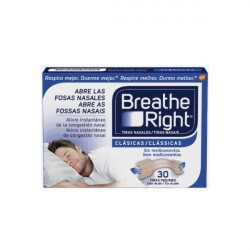 Breathe Right Tira Nasal Clasica 30 uds