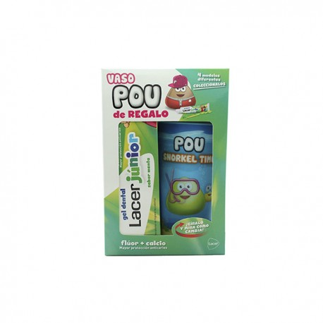 Lacer Junior Gel Dental de Menta 75 ml + REGALO Vaso Pou