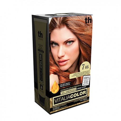 TH Pharma Vitalia Color Tinte Nº 7.46 Sin Amoniaco Rubio Medio Acobrado Rojo