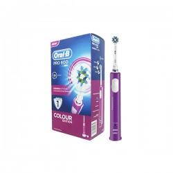 NEW Oral-B 600 Purple Power Pro 3D Cross Action Toothbrush Women Limited Edition 1ud