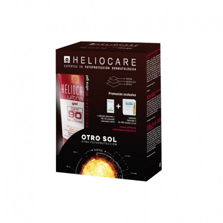 Heliocare Ultra Gel SPF 90 Pack + Endocare GelCream + Endocare-C Oil+ 7 ampollas Gratis