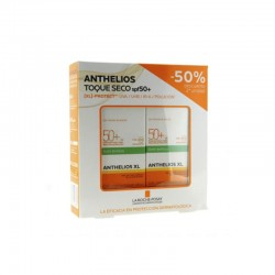Anthelios Duplo Gel Crema Toque Seco Antibrillos Spf50+ 2x50ml