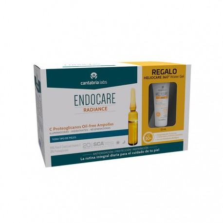 Endocare Radiance C Proteoglicanos Oil-free 30 Ampollas + Regalo Heliocare 360° Water Gel 15ml