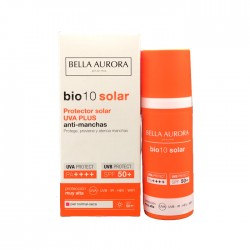 Bella Aurora Bio10 Protector Solar Uva Plus Antimanchas Spf50+ Piel Normal y Seca 50ml